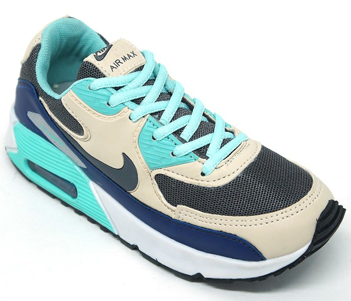 1b599cd1a7a Tênis Infantil Nike Air Max 90 Verde água e Creme