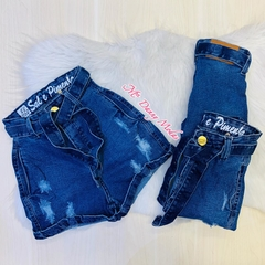 Shorts Jeans hot pants sal - Escura Ref B436