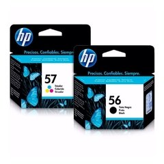 Cartuchos de tinta inkjet originales HP 56 + 57 (Delivery Pack negro + color)