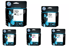 Cartuchos de tinta inkjet originales HP 727 (Delivery Pack 5 colores)