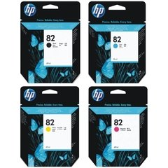 Cartuchos de tinta inkjet originales HP 82 (Delivery Pack 4 colores)