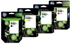Cartuchos de tinta inkjet originales HP 940XL (Delivery Pack 4 colores)