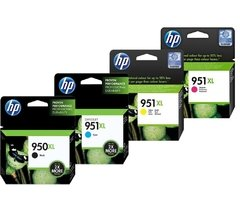 Cartuchos de tinta inkjet originales HP 950XL + 951XL (Delivery Pack 4 colores)