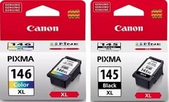 Cartuchos de tinta inkjet originales Canon 145 PG-145XL + 146 CL-146XL (Delivery pack negro + color)