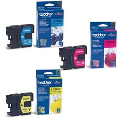 Cartuchos de tinta inkjet originales Brother LC980 (Delivery Pack 3 colores)