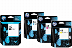 Cartuchos de tinta inkjet originales HP 40 + 44 (Delivery Pack 4 colores)