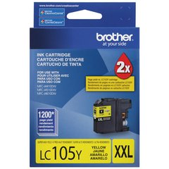 Cartucho de tinta inkjet original Brother LC105Y XXL