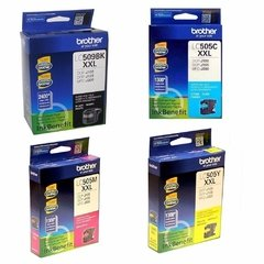 Cartuchos de tinta inkjet originales Brother LC505 + LC509BK (Delivery Pack x 4)