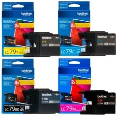 Cartuchos de tinta inkjet originales Brother LC79 (Delivery Pack x 4)