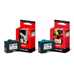 Cartuchos de tinta inkjet originales Lexmark 82 + 83 (Delivery Pack negro+color)