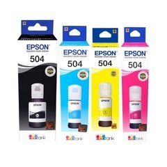 Botellas de tinta inkjet originales Epson 504 - T504 (Delivery Pack 4 colores)