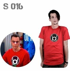 Remera Sheldon Cooper The Big Bang Theory  Linterna Roja