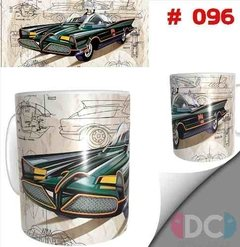 Taza Comics Coleccionable Dc Comics  Batimovil Retro Batman