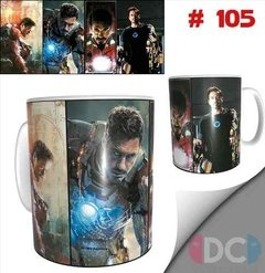 Taza De Comics Coleccionable Iron Man Tony Stark  #105