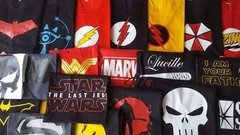 Remera De Comics - The Big Bang Theory - The Flash - Dos Caras Remeras de Comics