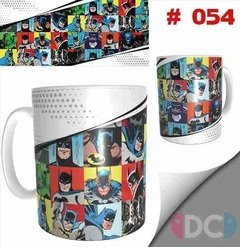 Taza Comics Coleccionable Batman Retro Dc Comics # 054