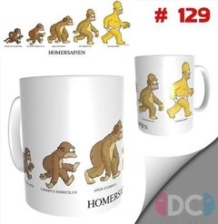Taza Simpson Homero Evolusion Series De Tv # 129
