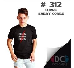 Remera Corre Barry Corre The Flash Frase  #312 Dc Comics