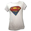 Remera Logo Superman BlancaTalle 3 (M)