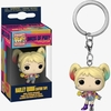 Funko Pop! Keychain Birds Of Prey Harley Quinn Caution