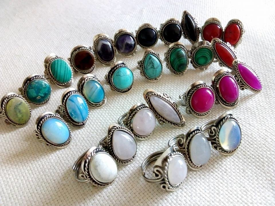 comprar popular baaf6 006c7 anillos de alpaca y piedras naturales