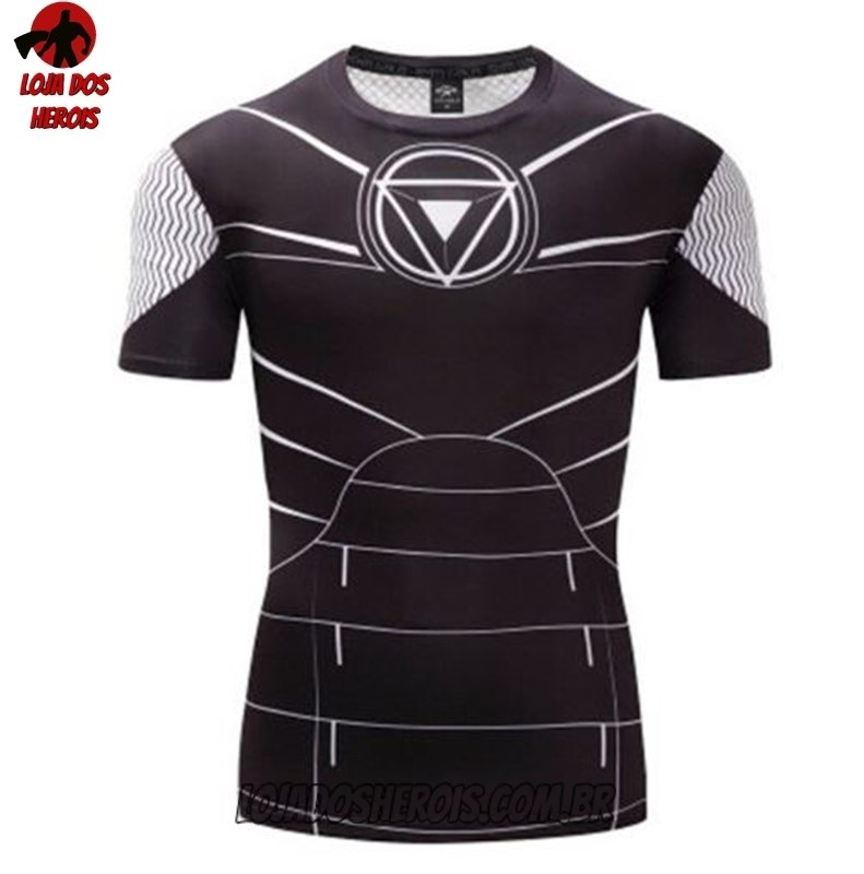 Camisa Camiseta Hash Guard Tony Stark Desenho Compressao Segunda Pele