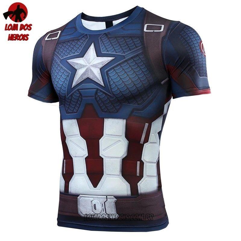09f271f692 Camisa/Camiseta Hash Guard Capitão América Vingadores Ultimato Endgame  Compressão