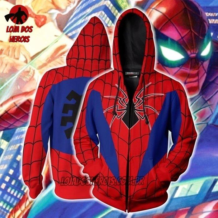 Jaqueta Blusa Casaco Homem Aranha Desenho Adulto E Infantil