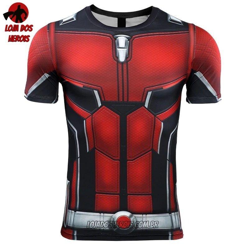 2603528516 1. 2. 3. 4. Camisa/Camiseta Hash Guard Homem Formiga Vingadores Ultimato  Endgame Compressão