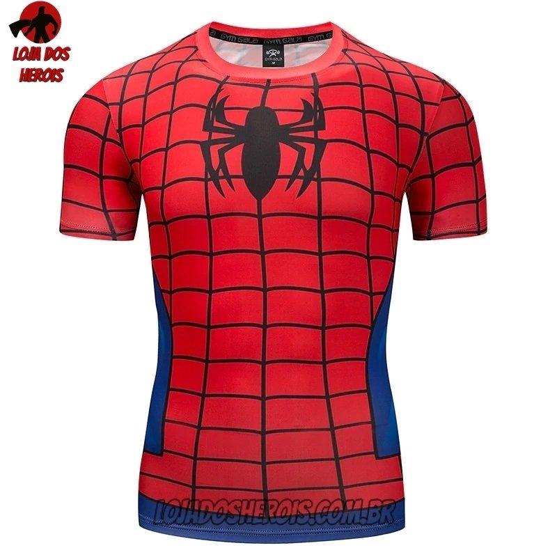 Camisa Camiseta Hash Guard Homem Aranha Desenho Compressao Segunda