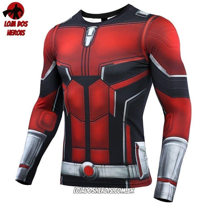c0b4bddea7 Camisa/Camiseta Hash Guard Homem Formiga Vingadores Ultimato Endgame Manga  Compressão