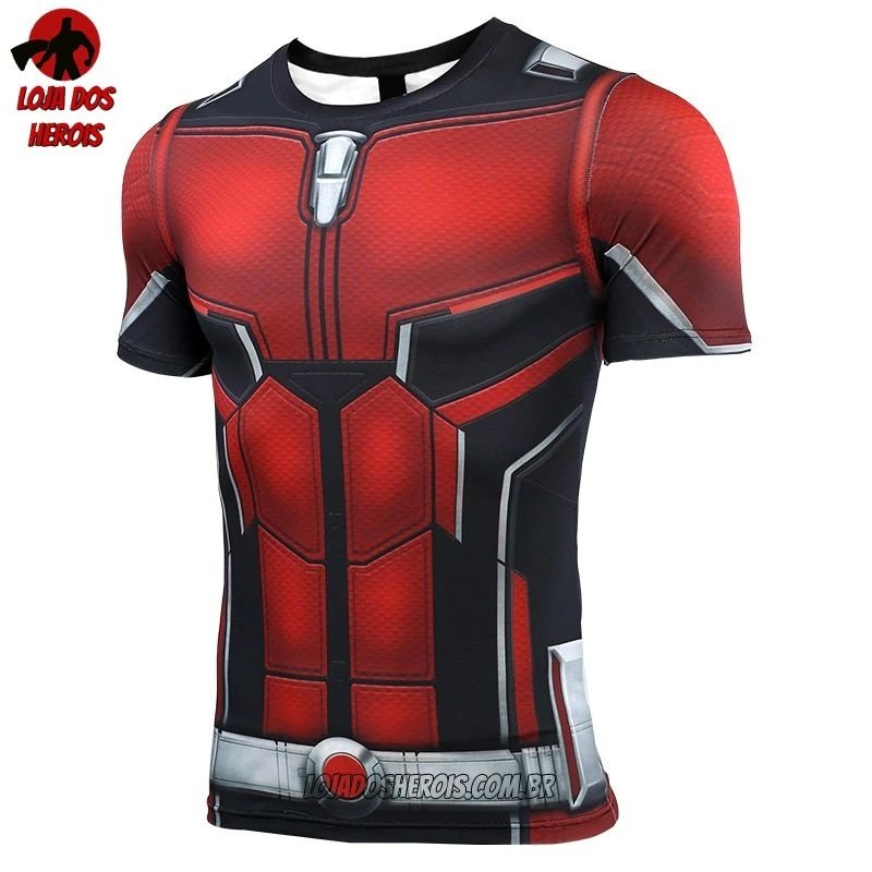 952c524fcf Camisa/Camiseta Hash Guard Homem Formiga Vingadores Ultimato Endgame  Compressão