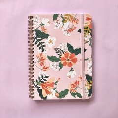 Linea Flower Power New- Notebook Grande Rosa