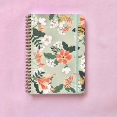 Linea Flower Power New - Notebook Grande Turquesa - comprar online