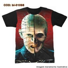 Camiseta  Big Face Pinhead Skull Hellraiser