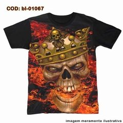 Camiseta King Skull Fire