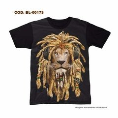 Camisetas Estampa Digital King Reggae
