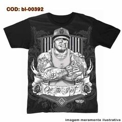 Camiseta Gangster  Hip Hop Tattoo Street