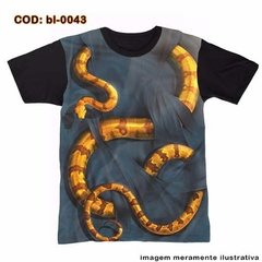 Camiseta   Barba Ruiva - Serpente 3d  / Cobra 3d