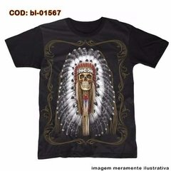 Camiseta  Dead Native Indian -  Ceifeiro Índio  Americano