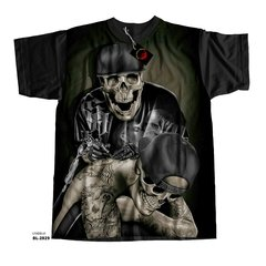 Camiseta  skull tattoo ink