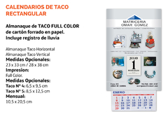 Almanaques Taco Full Color 2021 en internet