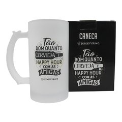 Caneca de chopp 450ml fosco happy hour