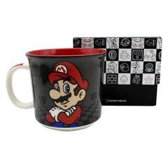 Caneca tom 350ml Mario black