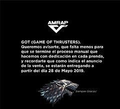 GAME OF THRUSTERS MUJER en internet