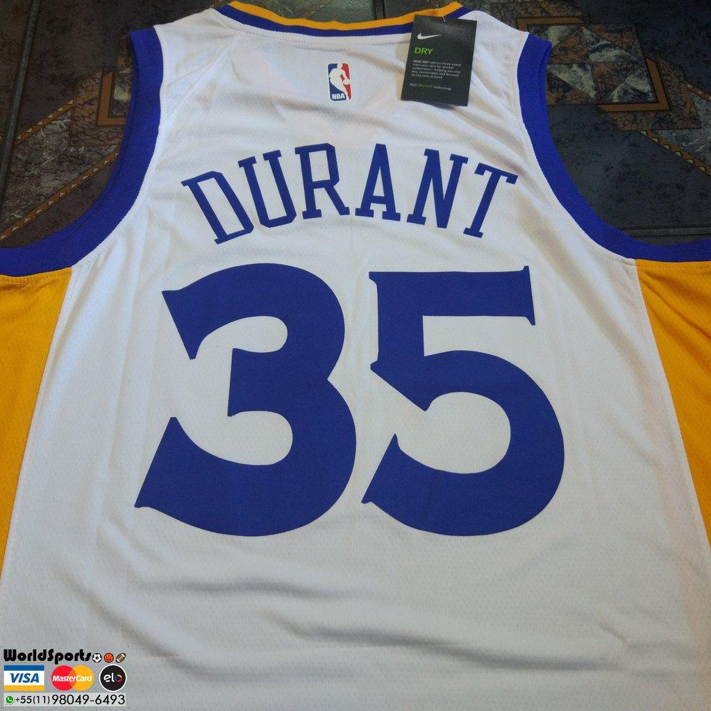 8cb66733f6 Camiseta Regata Nike Swingman NBA Golden State Warriors Home - Kevin ...
