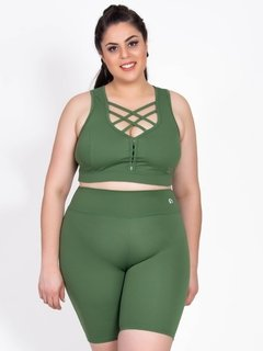 Bermuda Plus Size Emana Basic Agreste