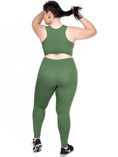 Calça Legging Plus Size Emana Basic Agreste - comprar online