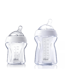 Set de Mamaderas de Vidrio Pure Glass Naturalfeeling 150ml y 250ml