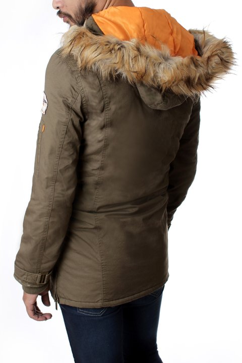 Parka De Gabardina Con Parches No End 32460 en internet